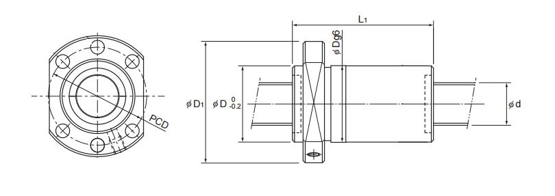 LM Systems THK EBB DIN spindel kogelomloop